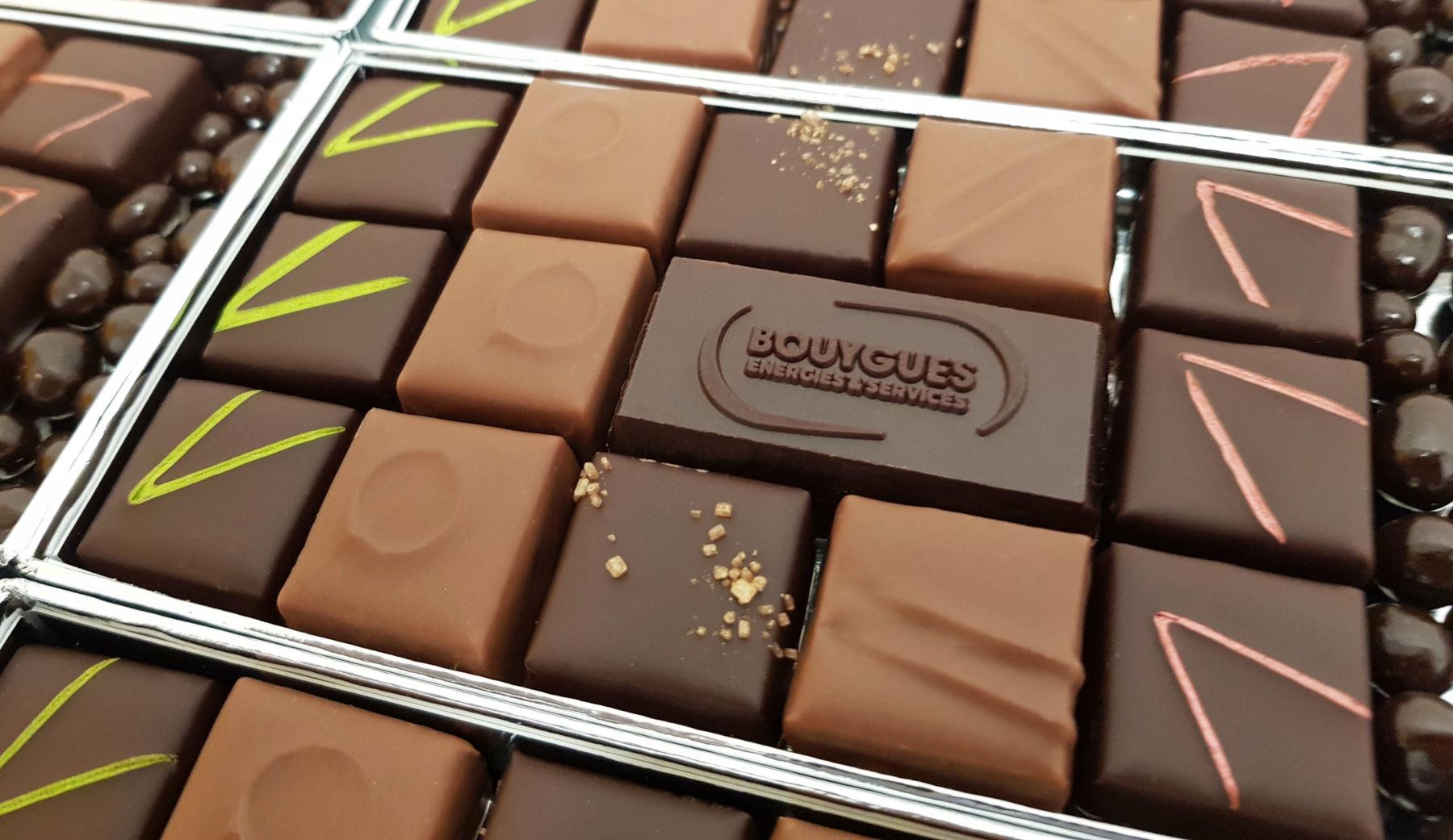 chocolat personnalisé d'entreprise